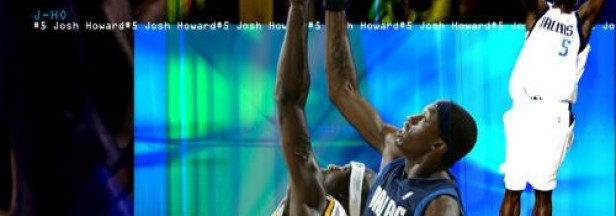 The Utah Jazz's Josh Howard tips his hat to Stepdad