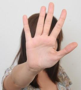 Hand in camera
