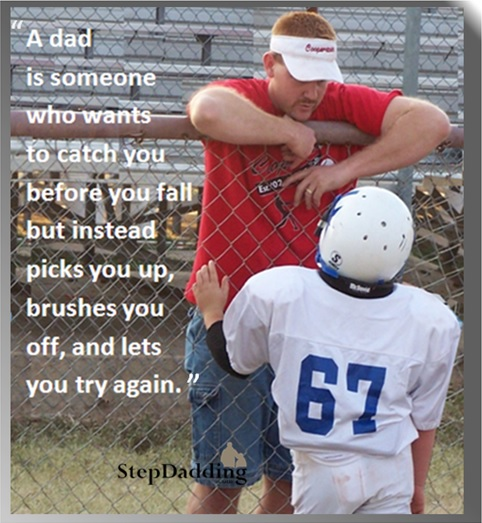 Man-building is a life long process. Father figures are a mentor and example.
