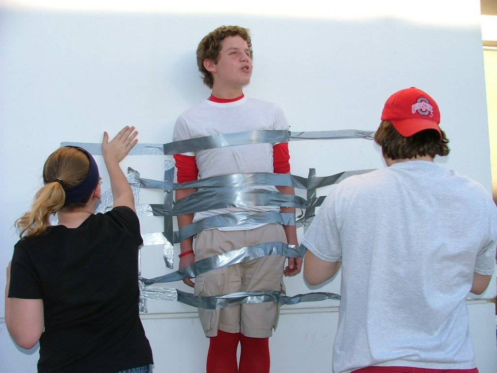 duct taped to the wall. - YouTube